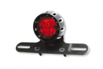 LED Stop/Taillight 'MILES' With License Plate Light, Black Anodized Housing & Brack
